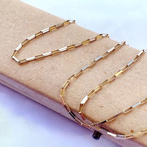Vintage 9ct Gold Rectangular Link Chain