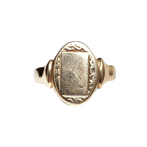 Vintage Statement 9ct Oval Signet Ring