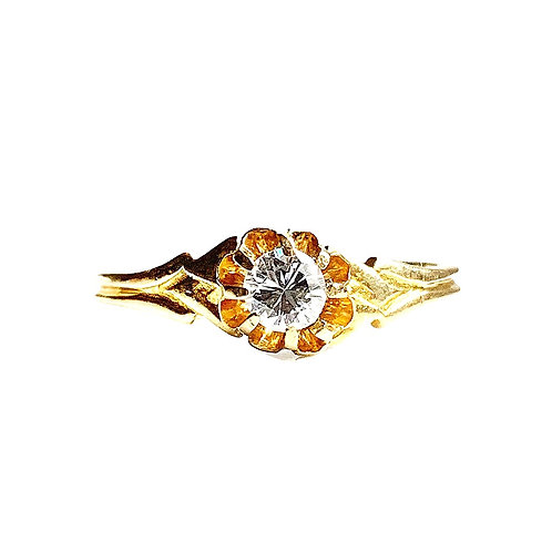 18ct Antique Diamond Flower Set Ring