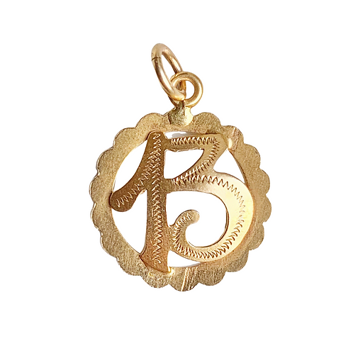 18ct Gold Lucky 13 Vintage French Charm