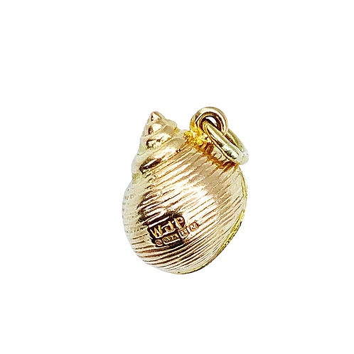 Vintage 60s Nautical Gold Sea Shell Charm