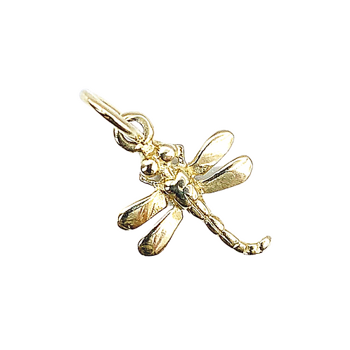Vintage 9ct Gold Dragonfly Charm