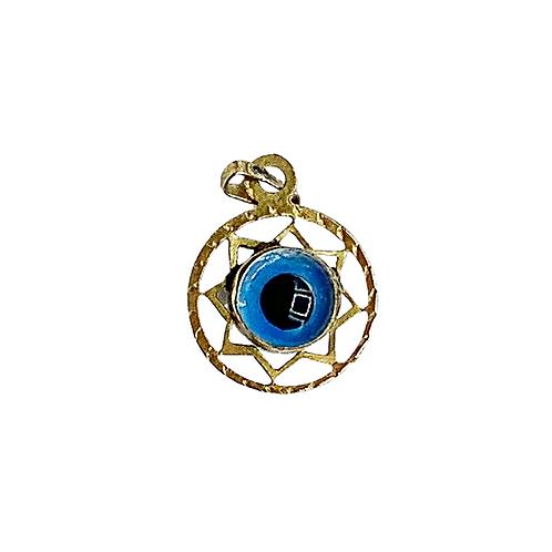Vintage 9ct Gold Evil Eye Charm