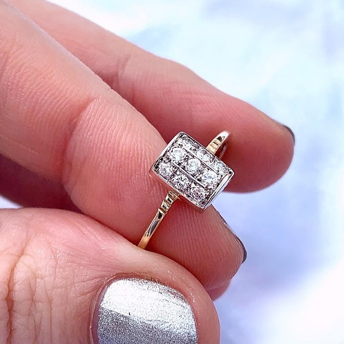 Vintage Art Deco Style Diamond Ring