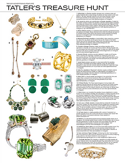 Tatler's treasure hunt . Our antique french love charm is featured