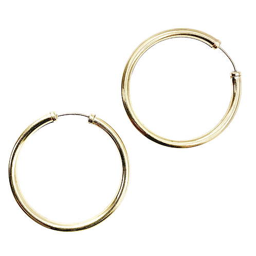 Vintage Gold 70's Glam Big Hoops