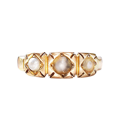 Antique 15ct Gold Victorian Pearl Band