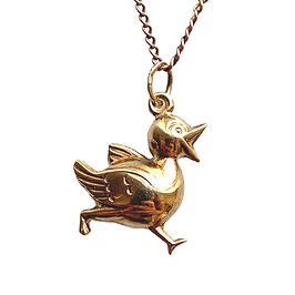 vintage 9ct gold sweet duck charm