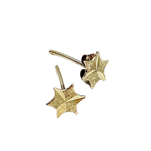 Vintage 'Aster' Gold Star Studs