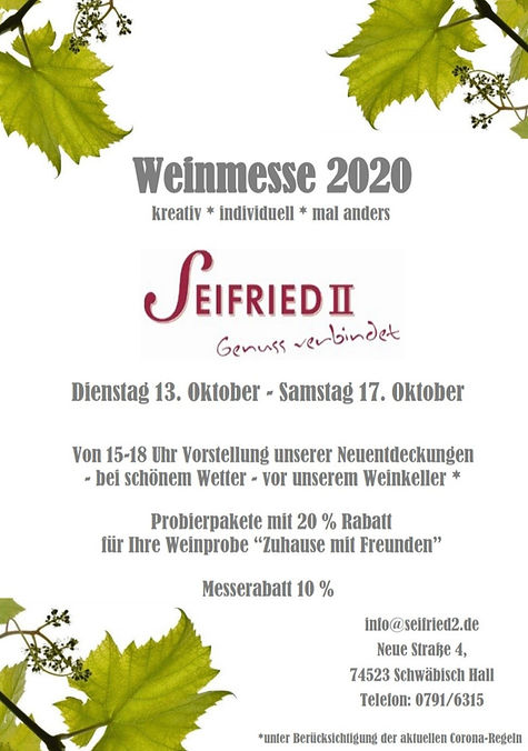 Weinmesse Seifried II 2020