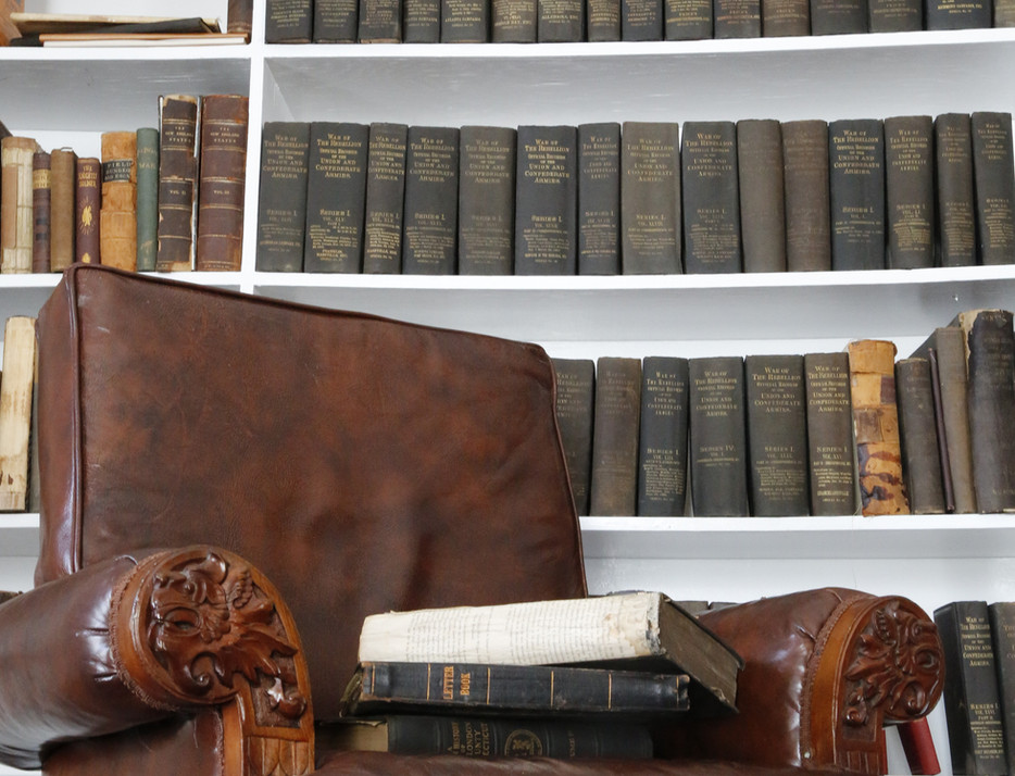 Reading leather arm chair