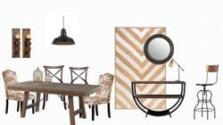 Mood board dining area