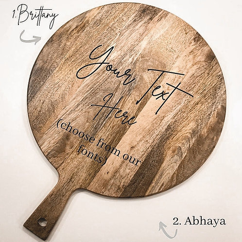 Personalised Wooden Pizza Board (40cm)