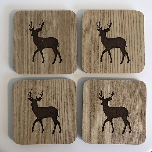 4 x Wooden Coasters (Can be Personalised)