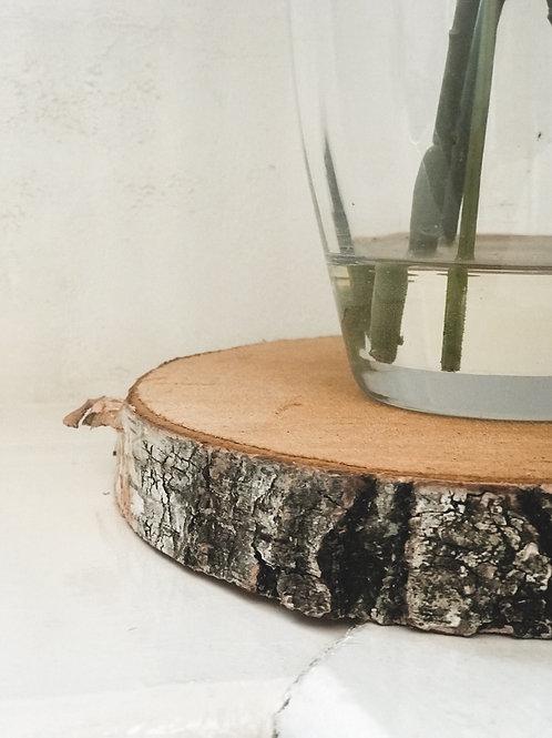 Heavy Weight Thick Birch Wood Slice Plain (21-25cm)