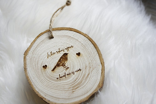 When Robins Appear Wood Slice (S, M, L)