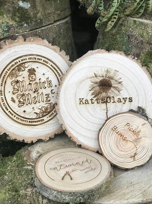Personalised Logo Wood Slice (S, M, L, XL)