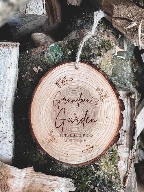 Personalised Outdoor Garden Wood Slice (12cm)