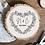 Thumbnail: Romantic Heart Wood Slice (S, M, L or XL)