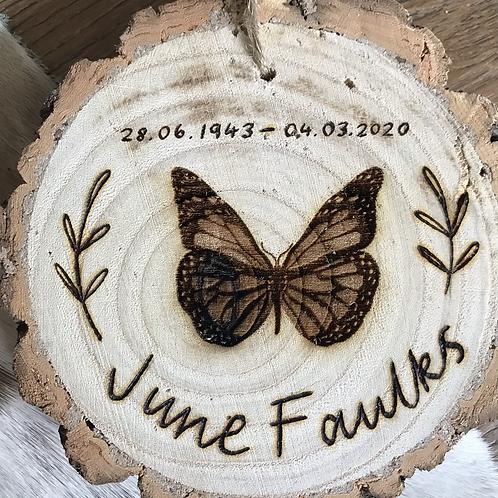 Personalised Memorial Wood Slice (M or L)