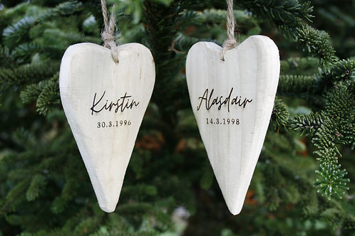 Exclusive Wooden Heart - Create your own Wood Slice (12cm)