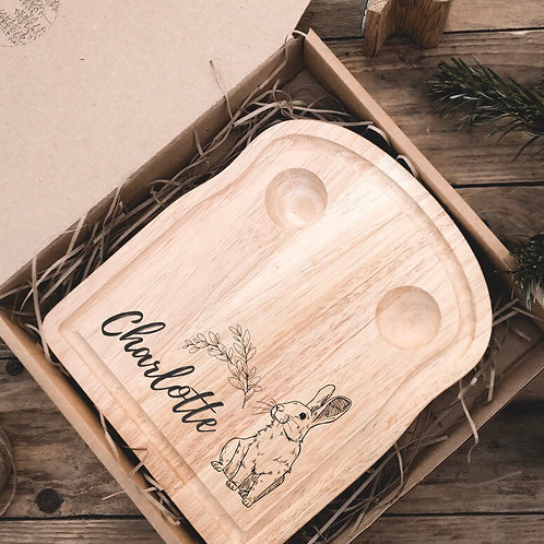 Egg & Toast Wooden Board (Easter Special)