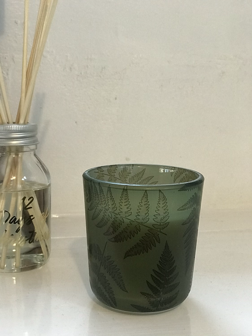 Forest Fern Glass Candle (8cm)