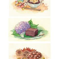カレンダー挿絵イラスト(懐かしのお菓子)