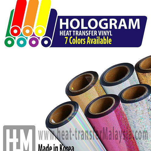 Korea HOLOGRAM Heat Transfer Vinyl (HTV) / Heat Press Vinyl