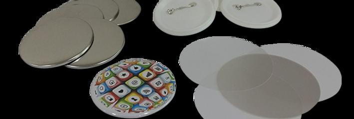 Pin Button Badge Parts - Dia. 58 mm
