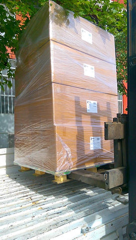 Packaging of cabinets Legs