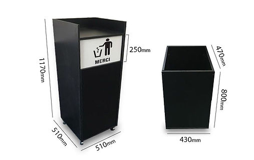 We produce waste bin trays from laminated chipboard for fast food restaurants  , cafes , bars , hotels