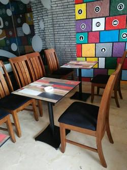 ERA Cafe Table Legs w/ Werzalit Top
