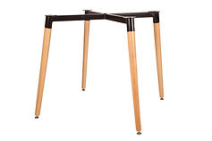 We manufacture Wooden table Legs with steel structure for cafe , restaurants , bistros , bars , schools