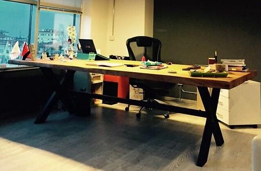 Kütük Ofis Masa Ayakları