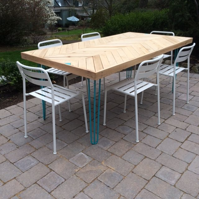 Hairpin Legs for Outdoor Tables