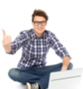 Guy with laptop showing thumbs up.jpg