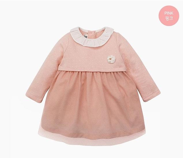 Нежное розовое платье для малышки