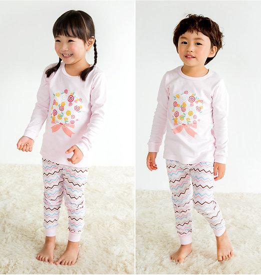 Домашний костюм-пижама из хлопка с принтом