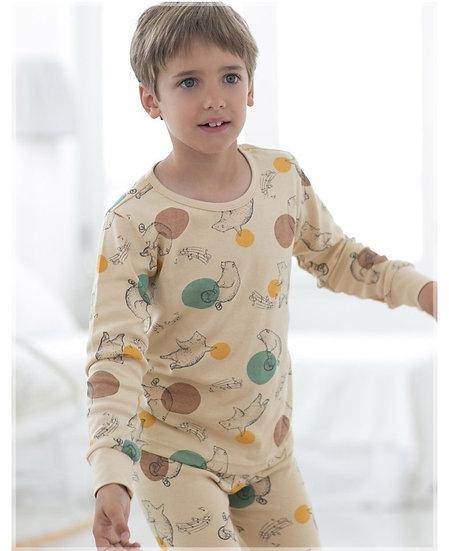 Трикотажный домашний костюм- пижама с медведями