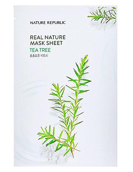 Тканевая маска с экстрактом чайного дерева NATURE REPUBLIC