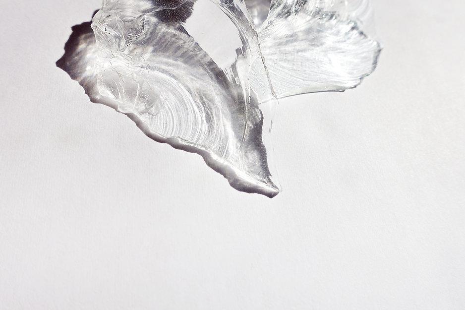 Glassplitter Ohrstecker mit Weissgold und Brillanten von Damaris Rohner Auraria Artis Goldschmiedin