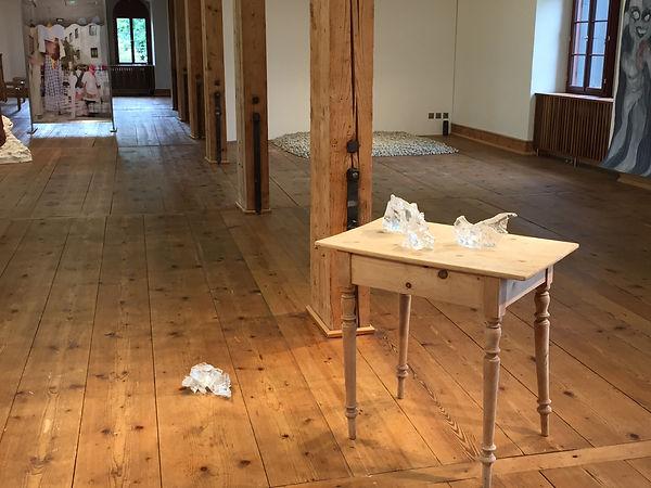 very small inclusions, 2016, Ausstellung Zeughaus Teufen, Glasskulpturen, Kunst von Damaris Rohner