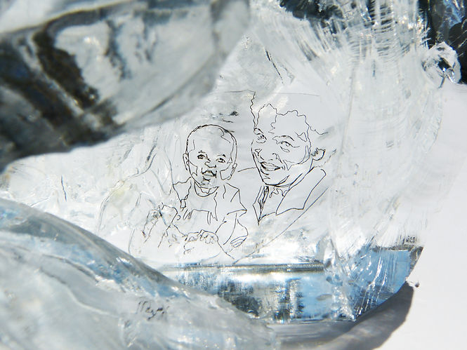 very small inclusions, Detail, Glasskulptur, Kunst von Damaris Rohner