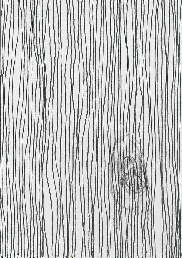 Elisa, Zeichnung Kugelschreiber und Feinleiner auf Papier, Damaris Rohner