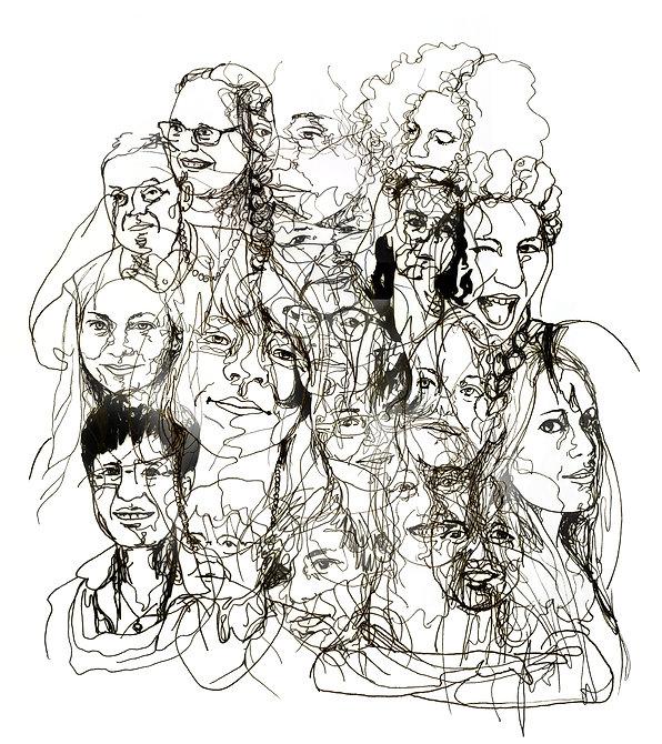 Artclass, Portrait, Lineart, Zeichnung, Kunst von Damaris Rohner
