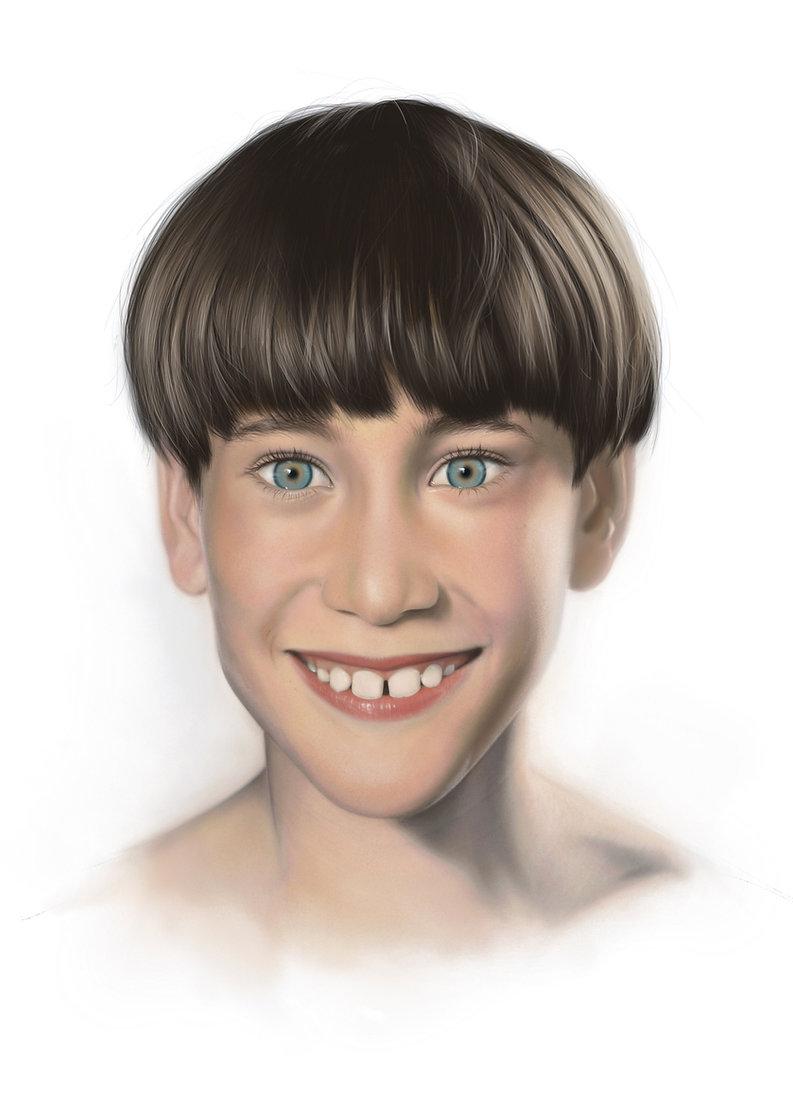 Junge, Portrait, digitales Bild, Procreate, Kunst von Damaris Rohner