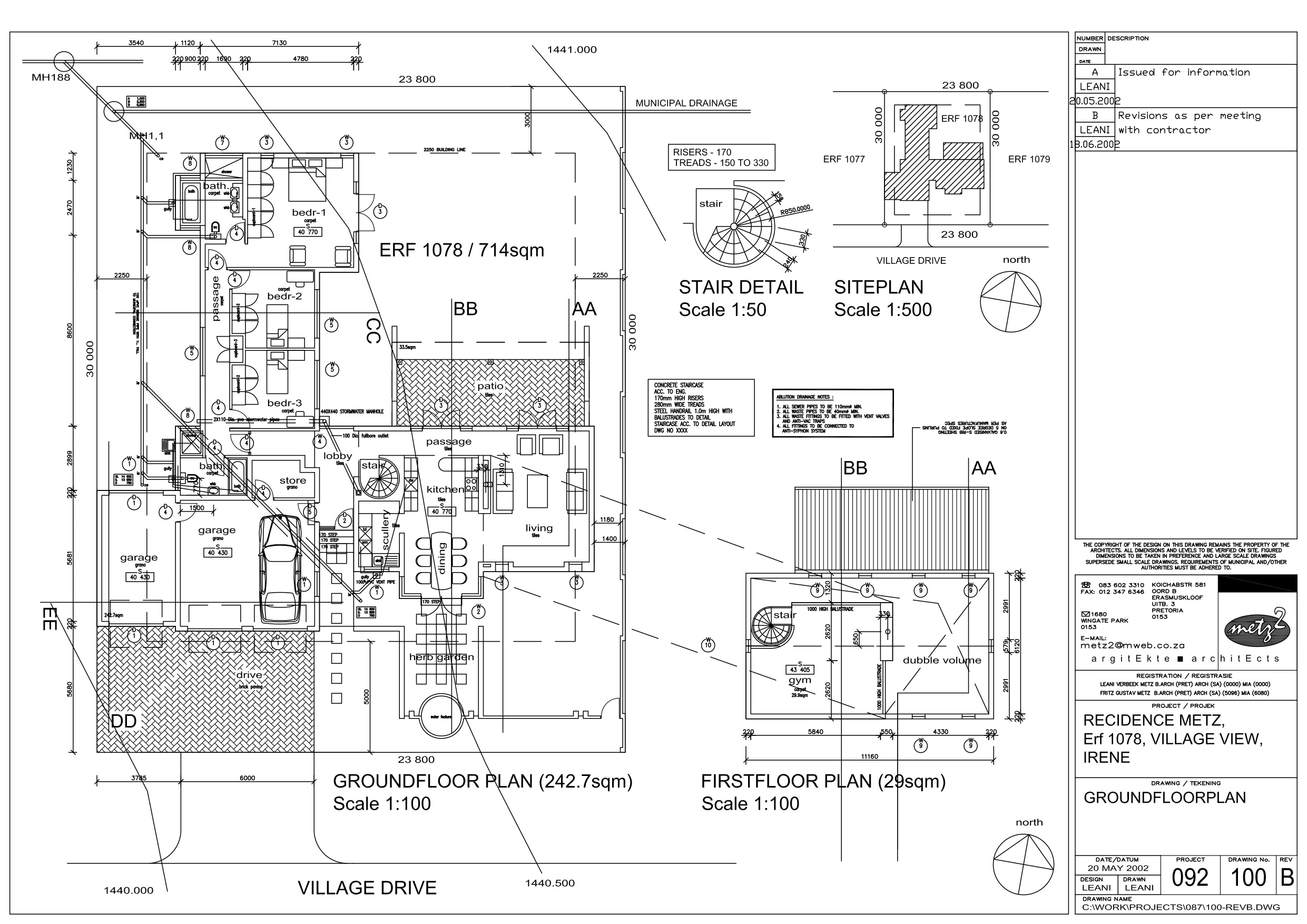 Plan layouts
