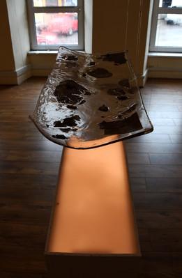 Light, resin and alminium installation