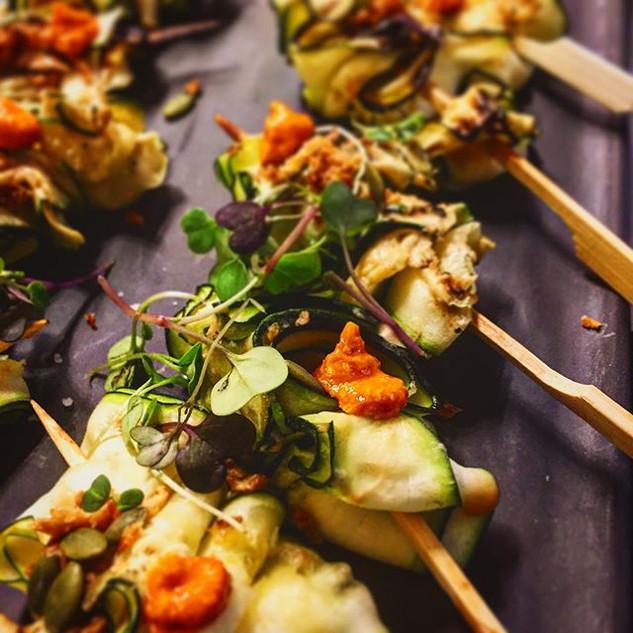 Private chef Barcelona canape menu